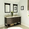 "Fairmont Design's Fairmont - Shaker Americana - 60"" Double Bowl - Open Shelf Vanity"