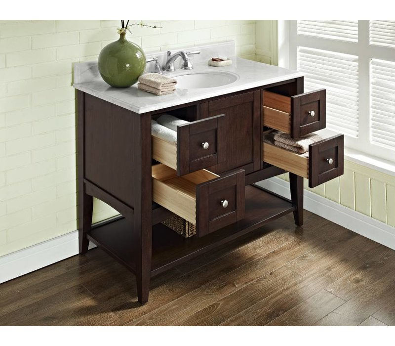 "Fairmont - Shaker Americana - 42"" Open Shelf Vanity"