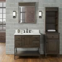 """Fairmont Design's - Toledo 36"""" Vanity - Door - Driftwood Gray - Driftwood Gray - 1401-36"""