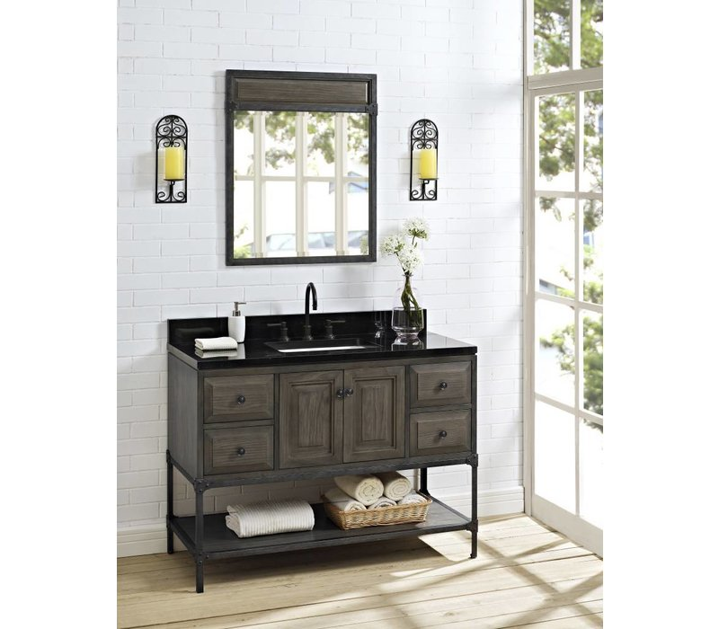 """Fairmont Design's - Toledo 48"""" Vanity - Door - Driftwood Gray - Driftwood Gray - 1401-48"""