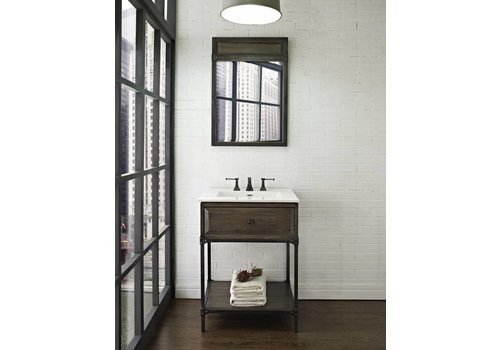 "Fairmont Design's Fairmont - Toledo - Driftwood Gray Open Shelf Vanity 24"""