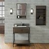 Fairmont Design's Fairmont - Driftwood Gray Open Shelf Vanity 30""