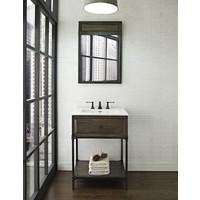 "Fairmont Design's - Toledo - 24"" Open Shelf Vanity - Driftwood Gray - 1401-VH24"