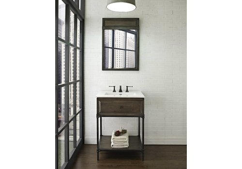 "Fairmont Design's Fairmont Toledo Driftwood Gray 24"" Open Shelf Vanity"