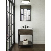 "Fairmont Toledo Driftwood Gray 24"" Open Shelf Vanity"