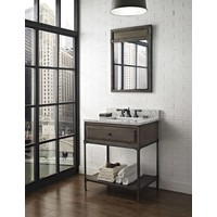 "Fairmont Toledo Driftwood Gray 30"" Open Shelf Vanity"