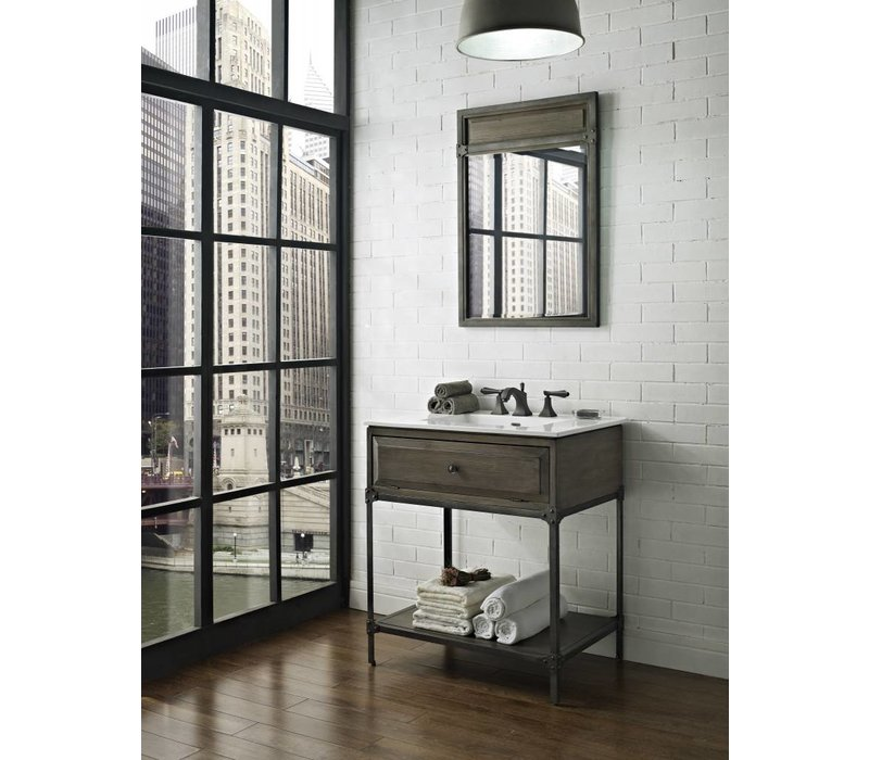 "Fairmont Design's - Toledo - 30"" Open Shelf Vanity - Driftwood Gray - 1401-VH30"