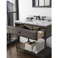 "Fairmont Toledo Driftwood Gray 36"" Open Shelf Vanity"