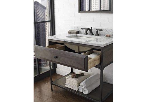 "Fairmont Design's Fairmont Toledo Driftwood Gray 36"" Open Shelf Vanity"