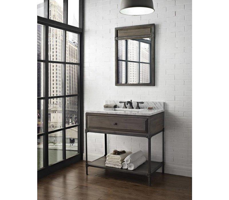 "Fairmont Design's - Toledo - 36"" Open Shelf Vanity - Driftwood Gray - 1401-VH36"