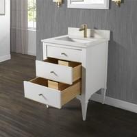 "Fairmont Design's - Charlottesville w/Brass 24"" Vanity - Polar White - Polar White - 1509-V24"