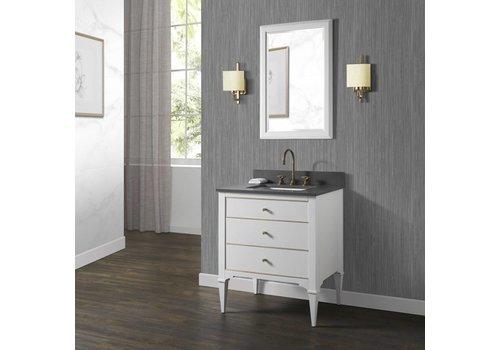 "Fairmont Design's Fairmont - Charlottesville - White - Brass Accents - 30"""