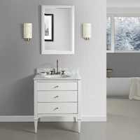Fairmont - Charlottesville - White - Brass Accents - 30""