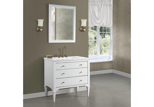"Fairmont Design's Fairmont - Charlottesville - White - Brass Accents - 36"""