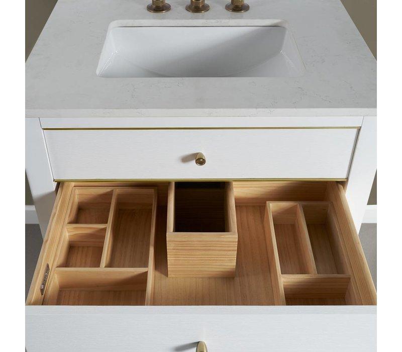 "Fairmont Design's - Charlottesville w/Brass 36"" Vanity - Polar White - Polar White - 1509-V36"