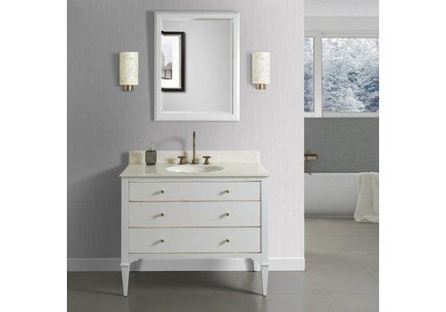"Fairmont Design's Fairmont Design's - Charlottesville w/Brass 42"" Vanity - Polar White - Polar White - 1509-V42"