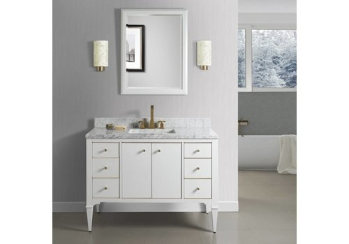 "Fairmont Design's Fairmont Design's - Charlottesville w/Brass 48"" Vanity - Polar White - Polar White - 1509-V48A"