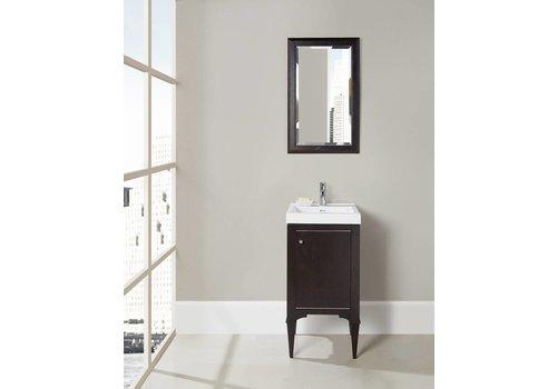 "Fairmont Design's Fairmont - Charlottesville - Vintage Black - Nickel Accents - 18"" x 16"""