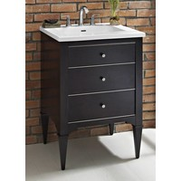 Fairmont - Charlottesville - Vintage Black - Nickel Accents - 24""