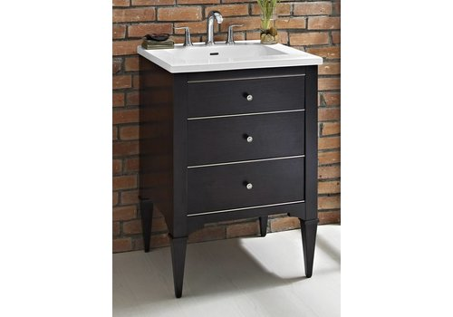 Fairmont Design's Fairmont - Charlottesville - Vintage Black - Nickel Accents - 24""