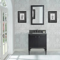 Fairmont - Charlottesville - Vintage Black - Nickel Accents - 30""