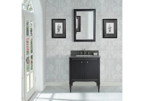 Fairmont Design's Fairmont - Charlottesville - Vintage Black - Nickel Accents - 30""