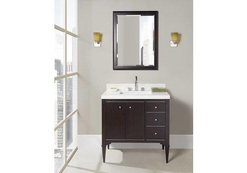 "Fairmont Design's Fairmont - Charlottesville - Vintage Black - Nickel Accents - 36"""