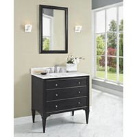 Fairmont - Charlottesville - Vintage Black - Nickel Accents - 36""