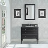Fairmont Design's Fairmont - Charlottesville - Vintage Black - Nickel Accents - 36""