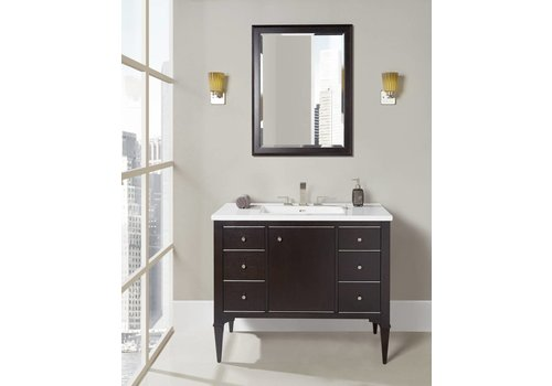 Fairmont Design's Fairmont - Charlottesville - Vintage Black - Nickel Accents - 42""