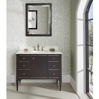 Fairmont - Charlottesville - Vintage Black - Nickel Accents - 42""