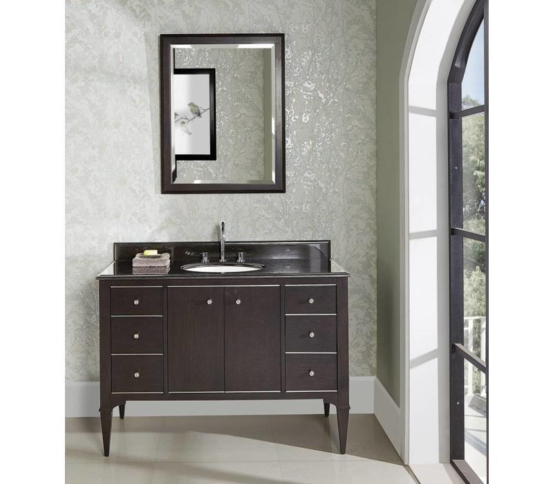 "Fairmont Design's - Charlottesville w/Nickel 48"" Vanity - Door - Vintage Black - Vintage Black - 1511-V48A"