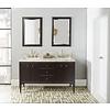 "Fairmont Design's Fairmont Design's - Charlottesville w/Nickel - 60"" Double Bowl Vanity - Door - Vintage Black - 1511-V6021DA"