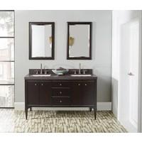 "Fairmont Design's - Charlottesville w/Nickel - 60"" Double Bowl Vanity - Door - Vintage Black - 1511-V6021DA"
