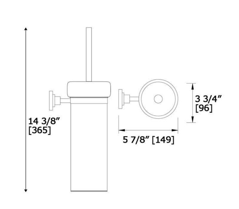 LaLOO - Toilet brush holder - Round
