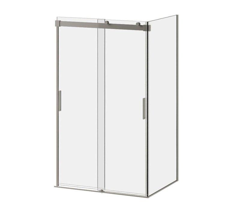 """Kalia - Akcess - 48"""" x 36"""" x 77"""" Corner Shower Door"""