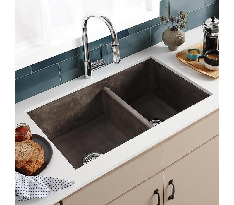Native Trails - Farmhouse Double Bowl - Kitchen sink