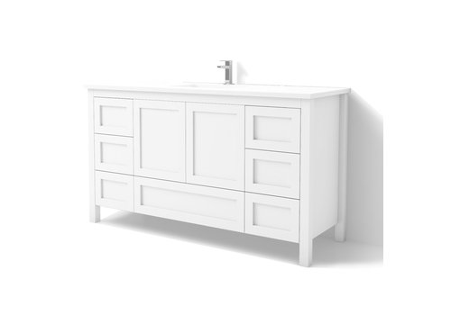 "DM Bath DM Bath - 60"" Shaker Vanity - Single"