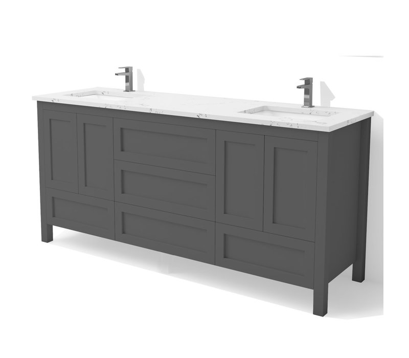 "DM Bath - 60"" Shaker Vanity - Double"