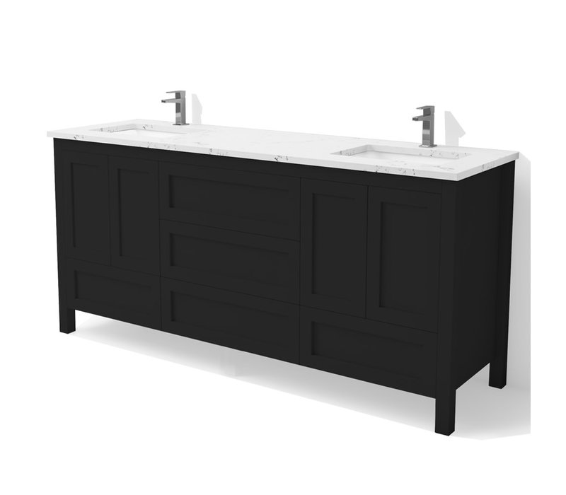 "DM Bath - 60"" Shaker Vanity - Double"