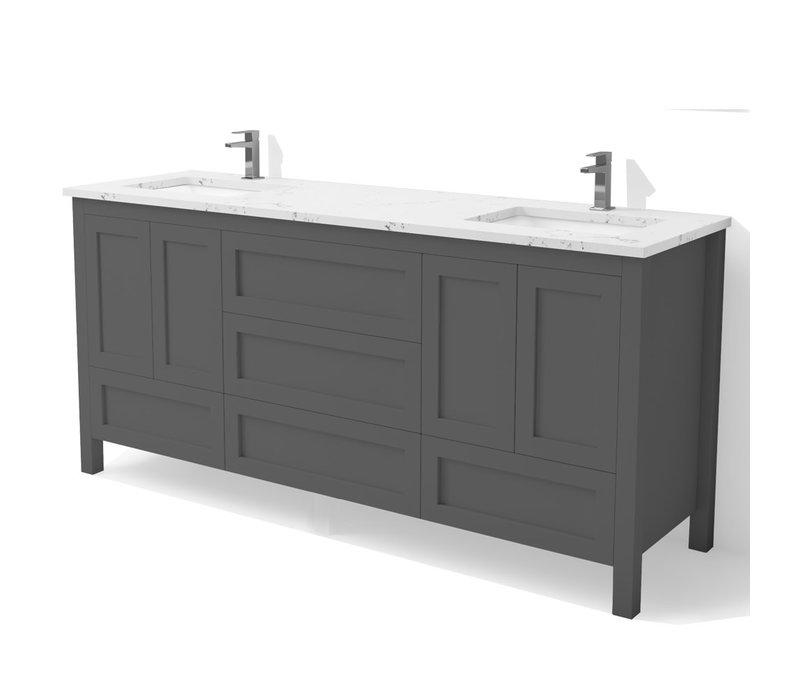 "DM Bath - 72"" Shaker Vanity"