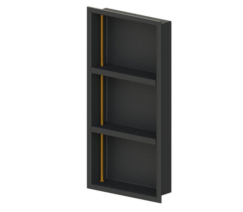 "Rubinet - 12"" x 24"" - Niche - With Shelves"