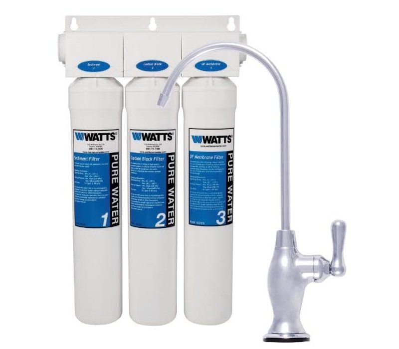 Watts - 3 Stage ultra filtration water system - less tank - PWDWUFKC3