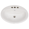 "American Standard American standard - Aqualyn - Drop in sink - 4"" centre - White - 0476028.020"