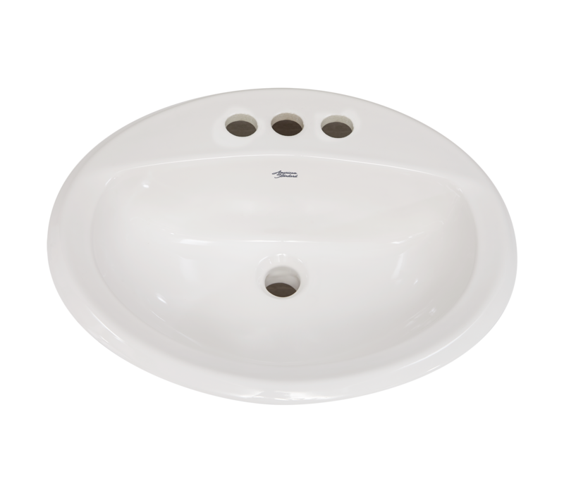 "American standard - Aqualyn - Drop in sink - 4"" centre - White - 0476028.020"