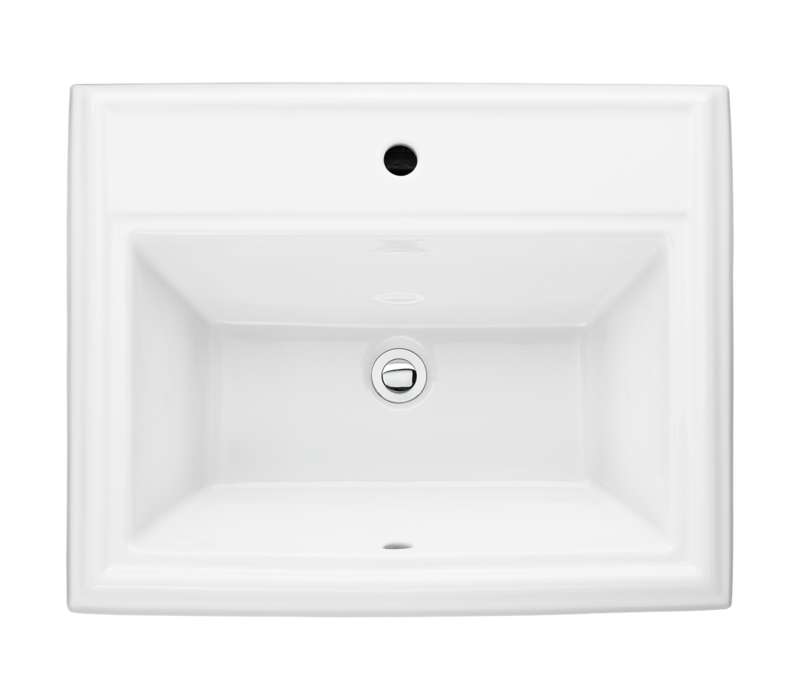American Standard - Town Square - Drop in sink - Single hole - White - 0700001.020