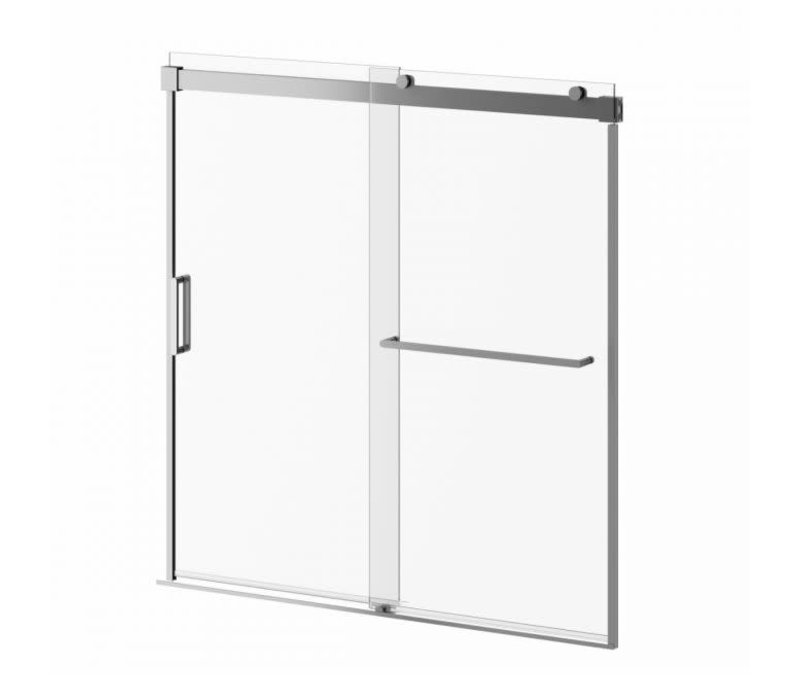 "Kalia - Akcess Plus 60"" bathtub door - chrome"