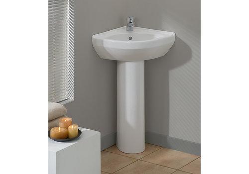 Cheviot Cheviot - PETITE Corner Pedestal Sink - 944-WH-1