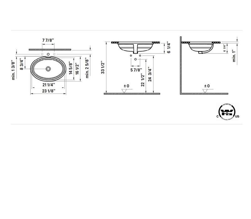 Cheviot - SIENNA Undermount Sink - 1120-WH