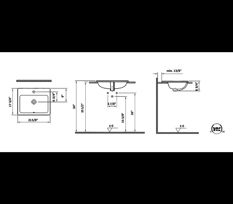 Cheviot - Manhattan - Drop-in sink